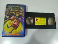 El Jorobado de Notre Dame 2 Walt Disney - VHS Cinta Tape Español