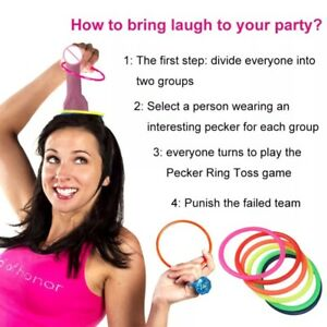 Dick Head Funny Game Willy Ring Toss Hoopla Bride To Be Do Stag Hen Party New Uk