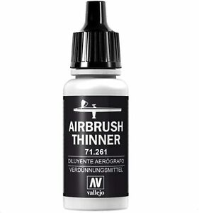 Airbrush THINNER 17ml Acrylic Paint Water Based Vallejo Model Air Non Toxic NEW