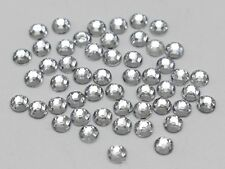 2000 Clear Acrylic Faceted Round Flatback Rhinestone Gems 4mm 16ss Nail Art Tips