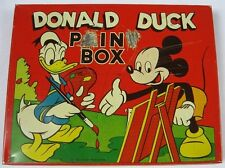 Vintage 1950's Donald Duck & Mickey Mouse Tin Pain Box