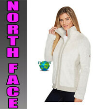 The North Face Women's Size Large Furry Fleece Full Zip Jacket Rainy Day Ivory