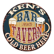CPBT-0265 KEN'S BAR N TAVERN COLD BEER HERE Tin Sign Father's Day Gift For Man