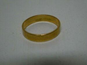VINTAGE 18 CT GOLD WEDDING BAND RING