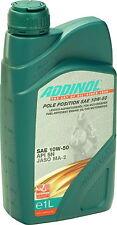 ADDINOL Pole Position SAE 10W-50 synthetisch Motoröl Motorrad JASO MA2 API SN 1L