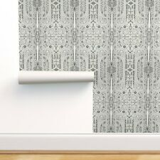 Peel-and-Stick Removable Wallpaper Art Deco Black White Vintage Greek Japanese