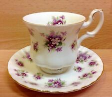 "Royal Albert Montrose Shape ""Sweet Violets"" Pattern Coffee Cup & Saucer."