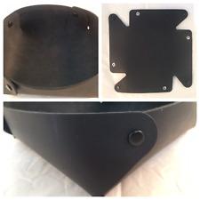 Large Round leather folding valet tray organizer office travel desktop catchall