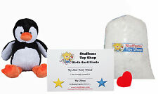 "DIY Stuffed Animal Kit 8"" Tux the Penguin Teddy Bear, No Sew Compatible Webkinz"
