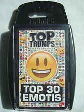 Top Trumps Top 30 Emotis Cards Game by Winning Moves 2017 Complete