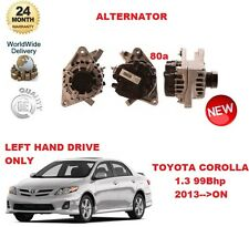 FOR TOYOTA COROLLA 1.3 2013-->ON 80A ALTERNATOR LEFT HAND DRIVE MODELS