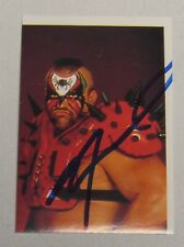 Road Warrior Animal Signed Legion of Doom 1991 EuroFlash Stickers WWF Card WWE 1