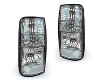 DEPO 1991-1997 TOYOTA LAND CRUISER FJ80 CRYSTAL CLEAR REAR TAIL LIGHTS FAST SHIP