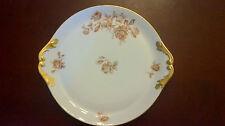 Limoges Dessert Platter Rose Pattern Gold Gilding