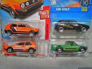 Volkswagen VW Golf Caddy Hot Wheels Matchbox Lot of 4