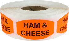 Ham and Cheese Grocery Market Stickers, 0.75 x 1.375 Inches, 500 Labels Total