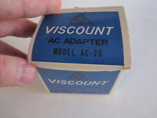 Vintage Viscount Ac Adapter In The Original Box - New - Tub Qqq