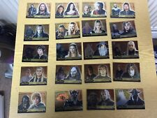 TOPPS LORD OF THE RINGS  EVOLUTION : 20 COMPLETE BRONZE INSERT SET OF CARDS