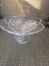 """Vintage Cut Glass or Crystal Footed Cake Stand 12"""""""