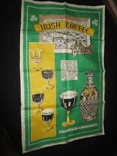 VtgeIrish Linen Tea Towel Irish Coffee Recipe Linen Tea Towel