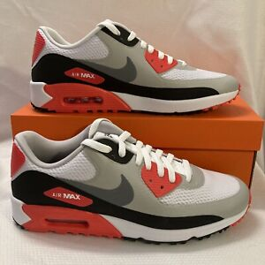 Nike Golf Air Max 90 G Waterproof Golf Shoes CU9978 103 Red White Black Sz 13