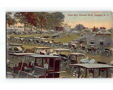 ST579: RACE DAY OLYMPIC PARK IRVINGTON NJ Postcard 1916 Postmark