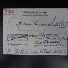 LETTRE PRISONNIER DE GUERRE STALAG XII A -> SANNOIS KRIEGSGEFANGENENPOST POW