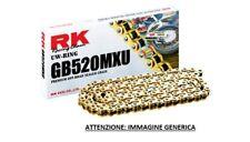 RK CHAIN CATENA H PASSO 520 CROSS ENDURO SENZA O-RING 120 MAGLIE ORO GOLD
