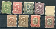 FINLAND 1918 Vaasa Lion definitive set MNH / **