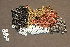 FLY TYING BRASS BEADS-4 COLORS (25 PCS)