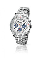 Sekonda Men's Quartz Watch with White Dial Chronograph Display and Silver Stainl