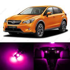 6 x Pink/Purple LED Interior Lights Package For 2013 and Up Subaru XV Crosstrek