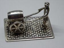 Weinfass Bierfass Miniatur Figur Silberfigur 835 Silber Silver Figurine Nr.3