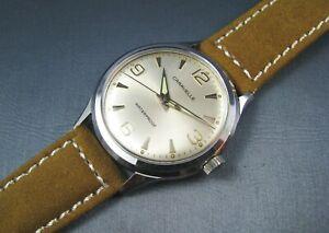 Vintage Bulova Caravelle Silver Tone Hand Wind Mens Watch 1967 11DP 17J