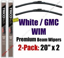 Wiper Blades 2-Pack Premium - fit 1991-1994 White GMC WIM - 19200x2