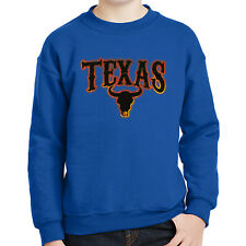 Texas Bull Kids Sweatshirt Flame and Skull Long Sleeve - 1871C