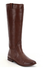 FRYE BOOT PAIGE TALL SADDLE TOBACCO BROWN BURNISHED LEATHER RIDING CLASSIC 8 NEW