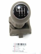 Genuine OEM Audi A6 4F C6 6 Speed Gray Leather Boot Chrome Cuff Shift Knob