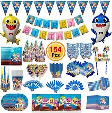 154 PCS Baby Shark Party Supplies Birthday Decorations Kit Kids Party Favor