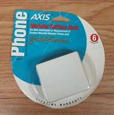 Genuine Axis (TE88006) Gold Series Modular Surface Jack NEW in Package *READ*