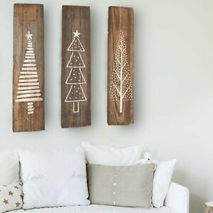 Set of 3 Tree Stencils Scandi Winter Christmas