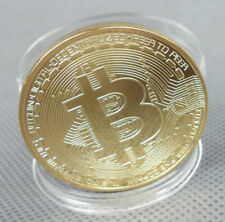 1x BTC Coin Art Collection Bitcoin Coin Gold Plated Physical Collectible Gift