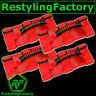 Deluxe Extreme Ultimate RED Roll Bar Grab Handle for 4 Pcs Jeep Wrangler JK TJ Y