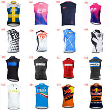 Men's Summer Cycling Sleeveless Jersey Vest Road Racing Bicycle Sportwear B57