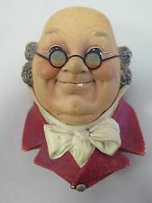 Bossons England Mr. Pickwick Old Man Glasses Character Realistic Chalkware