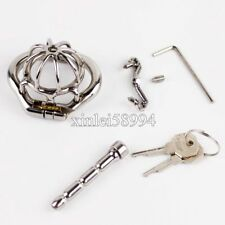 Spiked Ring Male Chastity Belt Devices Super Small Stainless Steel Bird Cage