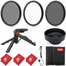 Circuit City 77MM Digital Filter Kit (UV, CPL, ND4) + Hood + Pistol Grip Tripod