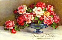 CPA fantaisie Bonne Fête Coupe et Roses fantasy postcard
