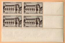 1944 - Bloc 4 Timbres -France-Neuf**Château de Chenonceaux- 15F- Yv.610