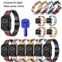 New luxury Stainless Steel Strap Link Bracelet For Apple Watch iWatch Series 4
